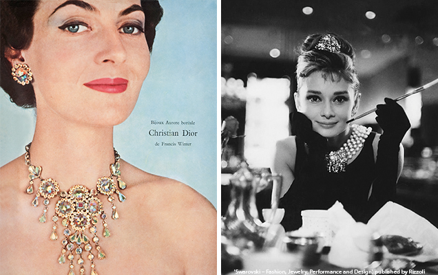 Old magazine ad featuring Dior necklace