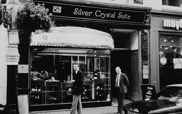 Old photo of Swarovski's first boutique