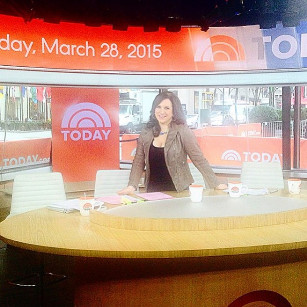 Carey Reilly on the Today Show set